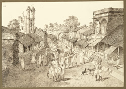 Western gateway of Patna City (Bihar). 23 October 1824